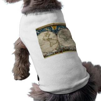 Antique World Map - Blaeu, Joan 1664 T-Shirt