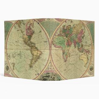 Antique World Map by Carington Bowles, circa 1780 3 Ring Binder