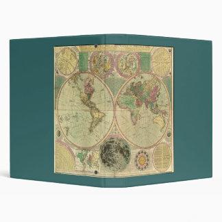 Antique World Map by Carington Bowles, circa 1780 Vinyl Binders