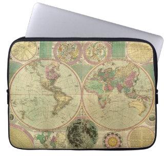 Antique World Map by Carington Bowles, circa 1780 Computer Sleeve
