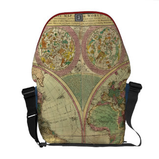 Antique World Map by Carington Bowles, circa 1780 Courier Bags