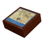 Antique World Map by Carington Bowles, circa 1780 Trinket Boxes