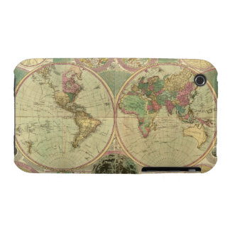 Antique World Map by Carington Bowles, circa 1780 iPhone 3 Case