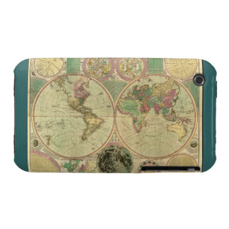 Antique World Map by Carington Bowles, circa 1780 iPhone 3 Cover