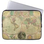 Antique World Map by Carington Bowles, circa 1780 Laptop Computer Sleeve