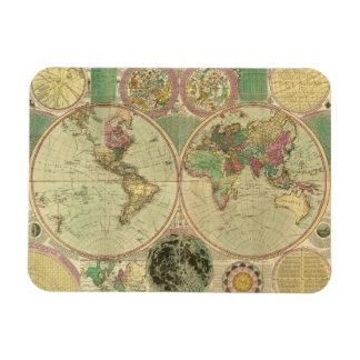 Antique World Map by Carington Bowles, circa 1780 Magnet