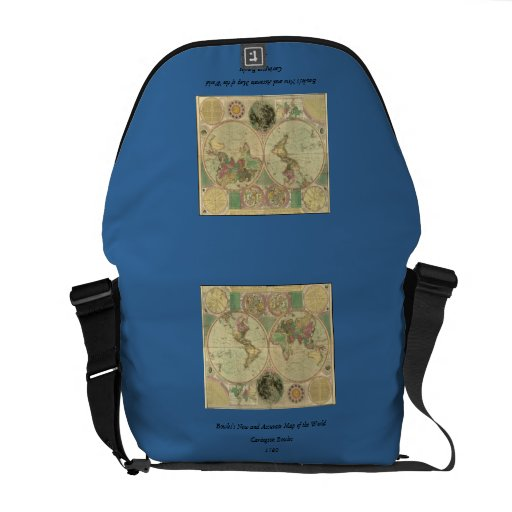 Antique World Map by Carington Bowles, circa 1780 Messenger Bags