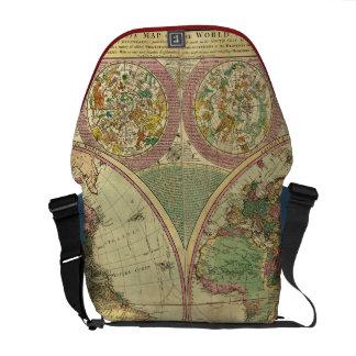 Antique World Map by Carington Bowles, circa 1780 Messenger Bag