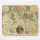 Antique World Map by Carington Bowles, circa 1780 Mouse Pad