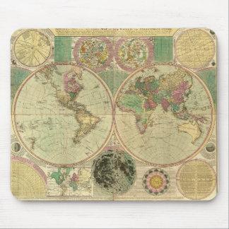 Antique World Map by Carington Bowles, circa 1780 Mouse Pad
