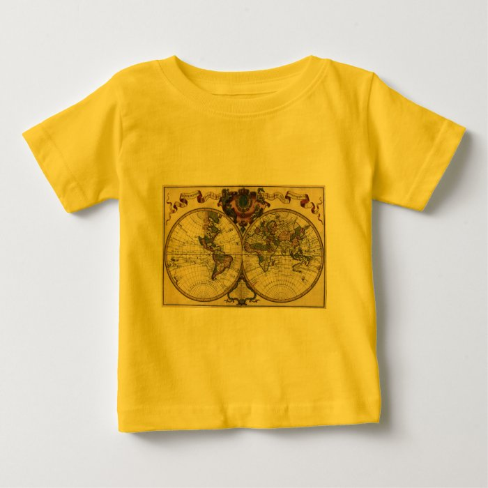 Antique World Map by Guillaume de L'Isle, 1720 Baby T-Shirt
