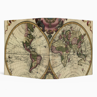 Antique World Map by Guillaume de L'Isle, 1720 3 Ring Binders
