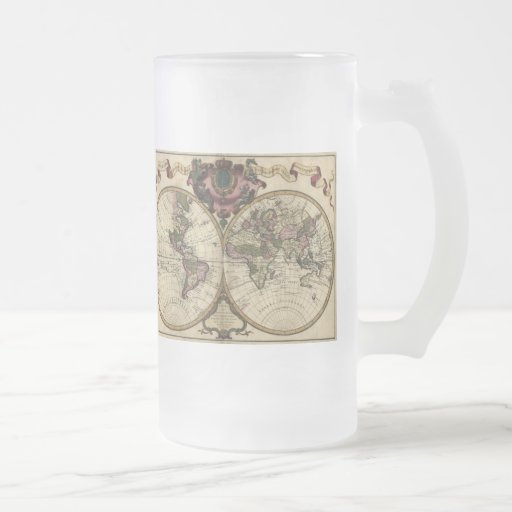 Antique World Map by Guillaume de L'Isle, 1720 Coffee Mugs