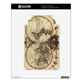 Antique World Map by Guillaume de L'Isle, 1720 Decals For The Kindle