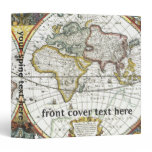 Antique World Map by Hendrik Hondius, 1630 Binder