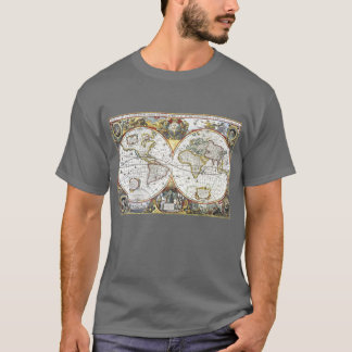 Antique World Map by Hendrik Hondius, 1630 T-Shirt