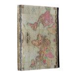 Antique World Map by John Colton, circa 1854 iPad Folio Cover