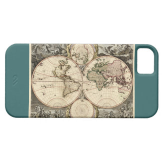 Antique World Map by Nicolao Visscher, circa 1690 iPhone SE/5/5s Case
