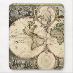 Antique World Map by Nicolao Visscher, circa 1690 Mouse Pads