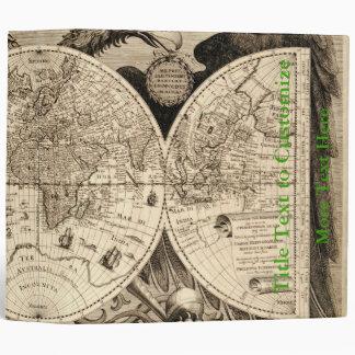Antique World Map by Philipp Eckebrecht - 1630 Vinyl Binders