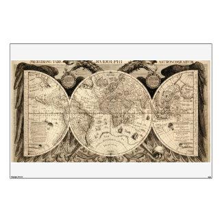Antique World Map by Philipp Eckebrecht - 1630 Wall Sticker