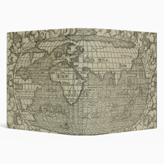 Antique World Map by Sebastian Münster circa 1560 3 Ring Binder