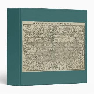 Antique World Map by Sebastian Münster circa 1560 Binder