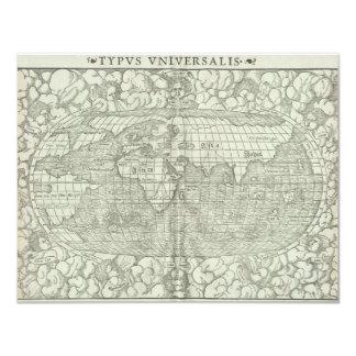 Antique World Map by Sebastian Münster circa 1560 Card