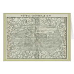 Antique World Map by Sebastian Münster circa 1560 Cards
