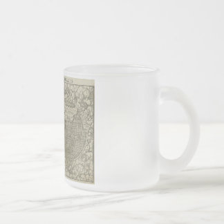 Antique World Map by Sebastian Münster circa 1560 Frosted Glass Coffee Mug
