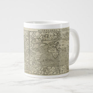 Antique World Map by Sebastian Münster circa 1560 Giant Coffee Mug