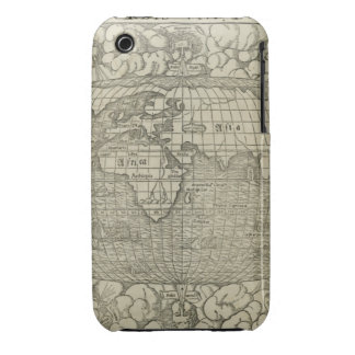 Antique World Map by Sebastian Münster circa 1560 iPhone 3 Case