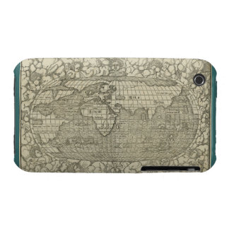 Antique World Map by Sebastian Münster circa 1560 iPhone 3 Cases