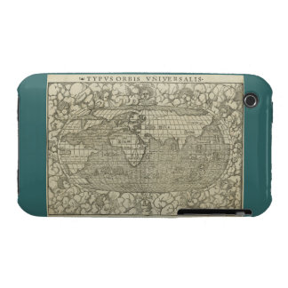Antique World Map by Sebastian Münster circa 1560 iPhone 3 Covers
