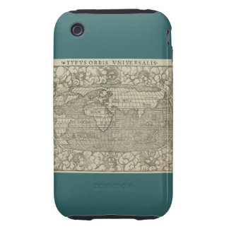 Antique World Map by Sebastian Münster circa 1560 iPhone 3 Tough Cases
