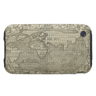 Antique World Map by Sebastian Münster circa 1560 iPhone 3 Tough Cover