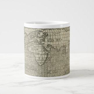 Antique World Map by Sebastian Münster circa 1560 Large Coffee Mug