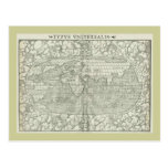 Antique World Map by Sebastian Münster circa 1560 Post Cards