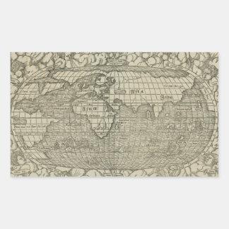 Antique World Map by Sebastian Münster circa 1560 Stickers