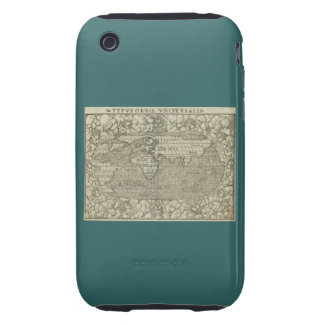 Antique World Map by Sebastian Münster circa 1560 Tough iPhone 3 Cases