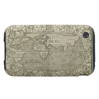 Antique World Map by Sebastian Münster circa 1560 Tough iPhone 3 Cover