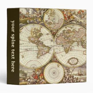 Antique World Map, c. 1680. By Frederick de Wit Vinyl Binders