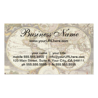 Antique World Map, c. 1680. By Frederick de Wit Double-Sided Standard Business Cards (Pack Of 100)