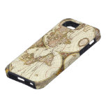 Antique World Map, c. 1680. By Frederick de Wit iPhone 5 Cover