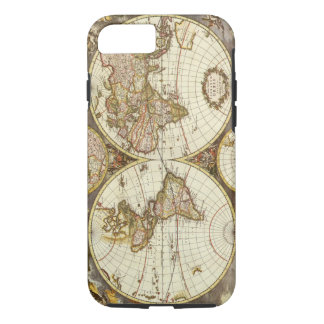 Antique World Map, c. 1680. By Frederick de Wit iPhone 7 Case