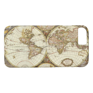 Antique World Map, c. 1680. By Frederick de Wit iPhone 8/7 Case