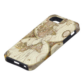 Antique World Map, c. 1680. By Frederick de Wit iPhone SE/5/5s Case