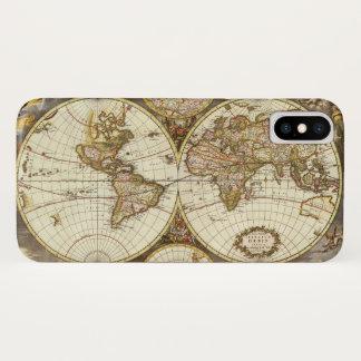 Antique World Map, c. 1680. By Frederick de Wit iPhone X Case