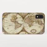 Antique World Map, c. 1680. By Frederick de Wit iPhone XR Case