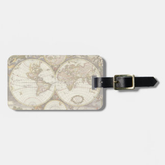 Antique World Map, c. 1680. By Frederick de Wit Luggage Tag